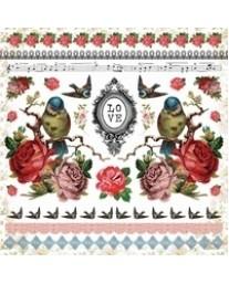 Porcelain Rose Sticker Sheet SS184