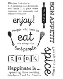 Bon Appetit Clear Stamps CS267