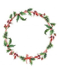 Holly Wreath PS429