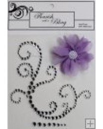 Elise Silver Flourish with Lilac Flower