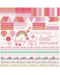 Little One Sticker Sheet - Girl SS288