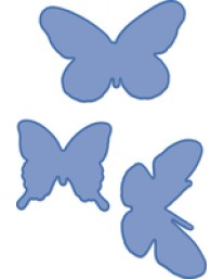 3 Butterflies decorative die