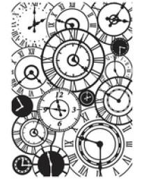 Clocks embossing folder