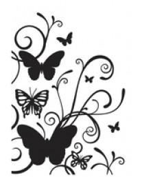 Butterfly Flourish Embossing Folder
