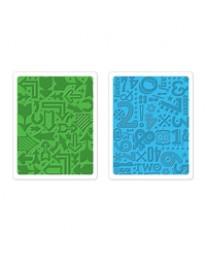 Arrows & Numbers embossing folders