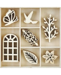 Secret Garden Wooden Flourish pack FL611