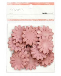 Dusty pink paper flowers - medium