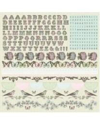 Bonjour Alpha Sticker Sheet SS114