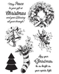 Silent Night Clear Stamps
