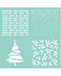 Christmas Quarters template T623