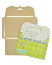 Card Bracket Envelope Template W477