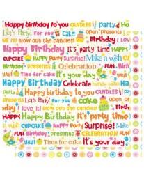 Birthday Words GP499