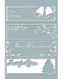 Christmas Tags Embossing Folder