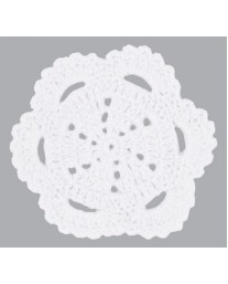 White Scallop Crochet Doilie