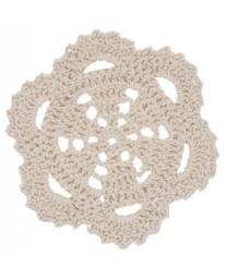 Cream Scallop Crochet Doilie
