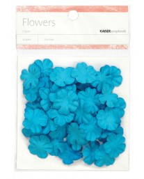 Blue paper flowers - small