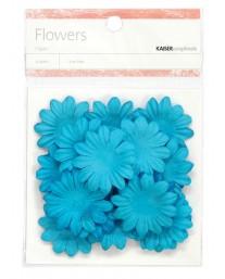 Blue paper flowers - medium