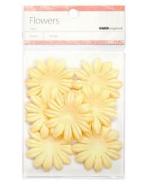 Cream paper flowers - large