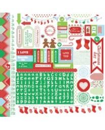 Santa's List Sticker Sheet SS199