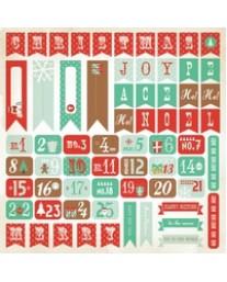 Gingerbread Sticker Sheet - Numbers
