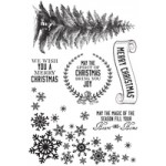 Frosted clear stamps