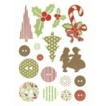 Be Merry Printed Chipboard