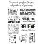 Christmas Quotes Clear Stamps