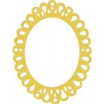 Oval Ornate Frame decorative die