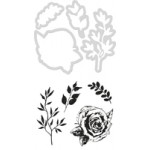 Rose decorative die and stamp