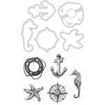 Nautical decorative die and stamp