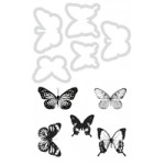 Butterflies Decorative die and stamp
