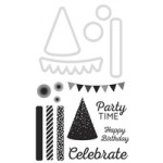 Party Time decorative die and stamp
