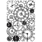Clocks embossing folder