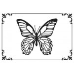 Framed Butterfly embossing folder