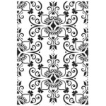 Ornate Flourish Plate embossing folder