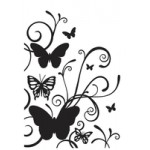 Butterfly Flourish Embossing Folder