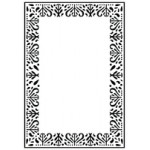Decorative Frame embossing folder