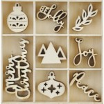 Jolly Christmas Wooden Flourish Pack FL610