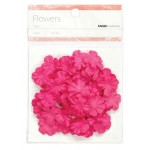 Hot Pink paper flowers - Small
