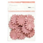 Dusty pink paper flowers - medium
