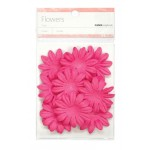 Hot pink paper flowers - large