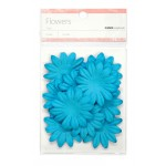 Blue paper flowers - large