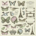 Bonjour Icons Sticker Sheet