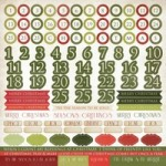 Christmas Carol Sticker Sheet - Numbers
