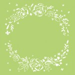 Floral Wreath 6x6 Template IT434