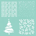 Christmas Quarters template T623