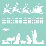 Christmas Strip template T626