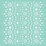 Lace 12x12 template T629