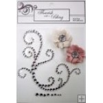 Elise Silver Flourish Latte & Dusty Pink Flowers