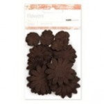 Chocolate paper flowers - mixed